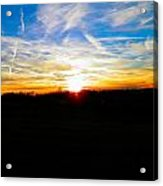 Contrail Sunset Acrylic Print