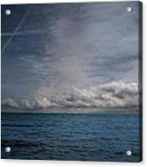 Contrails And Rainclouds Over Lake Michigan Acrylic Print
