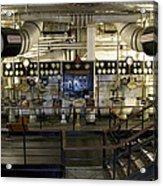 Control Board Engine Room Queen Mary Ocean Liner Long Beach Ca Acrylic Print