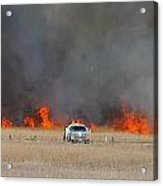 Controlled Burn And Brush Truck Acrylic Print