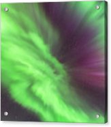 Converging Curtains Of Aurora Acrylic Print