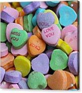 Conversational Hearts Acrylic Print