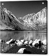 Convict Lake Pano In Black And White Acrylic Print