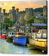 Conwy Castle And Harbour Acrylic Print
