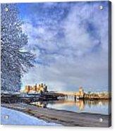 Conwy Castle Snow Acrylic Print