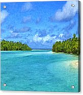 Cook Islands Lagoon Acrylic Print