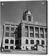 Cooke County Courthouse Bw Acrylic Print