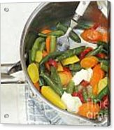Cooked Mixed Vegetables Acrylic Print
