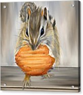 Cookie Time- Squirrel Eating A Cookie Acrylic Print