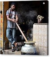 Cooking Breakfast Early Morning Lahore Pakistan Acrylic Print