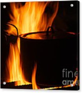 Cooking Pot On Fire Finland Acrylic Print