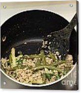 Cooking Salmon With Green Beans Acrylic Print