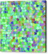 Cool Green Splash Art Acrylic Print