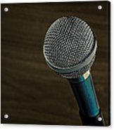 Cool Microphone Acrylic Print