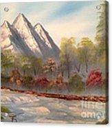 Cool Mountain River Acrylic Print