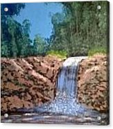 Cool Waterfall Acrylic Print