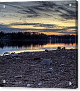 Cool Winter Sunset Acrylic Print