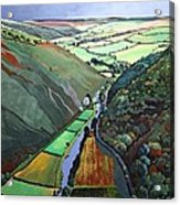 Coombe Valley Gate, Exmoor, 2009 Acrylic On Canvas Acrylic Print