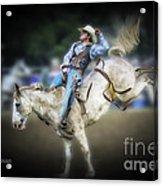 Cooper Rodeo Bronc Rider Acrylic Print