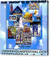Cooper Young Festival Poster 2008 Acrylic Print