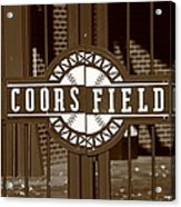 Coors Field - Colorado Rockies 15 Acrylic Print by Frank Romeo