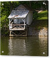 Coosa River Fishing Hut   #9548 Acrylic Print