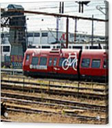 Copenhagen Commuter Train Acrylic Print
