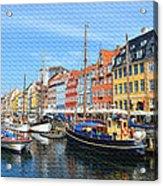 Copenhagen Denmark Nyhavn District Acrylic Print