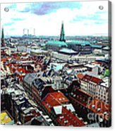 Copenhagen Roofs With Danish Parliament I Acrylic Print