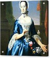 Copley's Anne Fairchild Bowler -- Mrs. Metcalf Bowler Acrylic Print