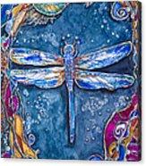 Copper Dragonfly Acrylic Print