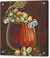 Copper Kettle Of Grapes Acrylic Print