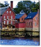 Copper Paint Building Acrylic Print