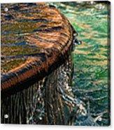 Copper Spill Acrylic Print