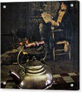 Copper Teapot Acrylic Print by Debra and Dave Vanderlaan