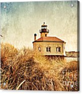 Coquille River Lighthouse - Texture Acrylic Print