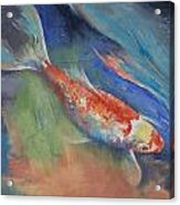 Coral And Moonstone Acrylic Print by Michael Creese