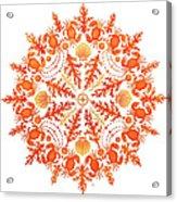 Coral Crab Mandala Acrylic Print