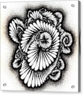 Coral Burst Acrylic Print