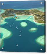 Coral Reef And Musket Cove Island Acrylic Print