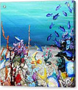 Coral Reef Blues  Acrylic Print