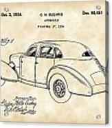 Cord Automobile Patent 1934 - Vintage Acrylic Print
