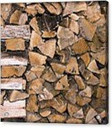 Cord Wood Acrylic Print