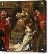 Cordelia In The Court Of King Lear, 1873 Acrylic Print