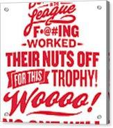 Corey Crawford Cup Speech Acrylic Print