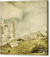 Corfe Castle - Dorset - England - Vintage Effect Acrylic Print