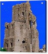 Corfe Castle Ruins Acrylic Print