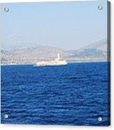 Corfu Channel Lighthouse Acrylic Print