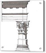 Corinithian Order Acrylic Print by Calvin Durham