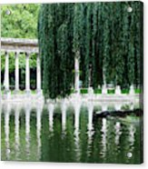 Corinthian Colonnade And Pond Acrylic Print